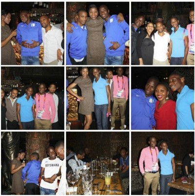 Night Out in London with the Botswana Olympic Team