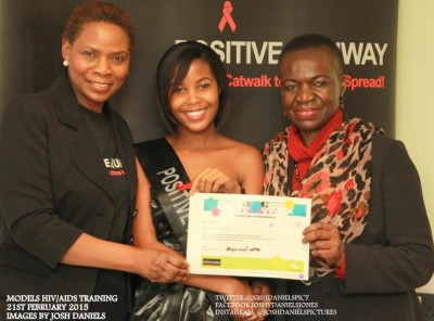 Katrinah Phenyo gets HIV/AIDS Peer Educator certificate