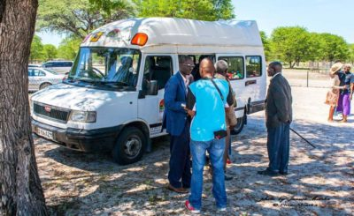The minibus for the kids of Sexaxa to save them having to walk 11 miles to school without breakfast!