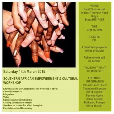 Southern African Empowerment & Cultural Workshop